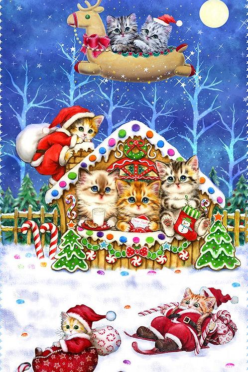 Cobalt Kitten Christmas Sweet Home Panel
