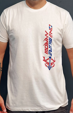 OneMoreArrow Adult Red White and Blue T-Shirt