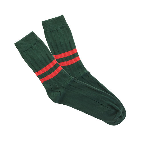 Scottish Green - Double Red Stripe