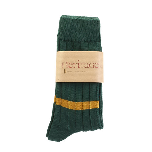 Scottish Green - Single Low Ochre Stripe