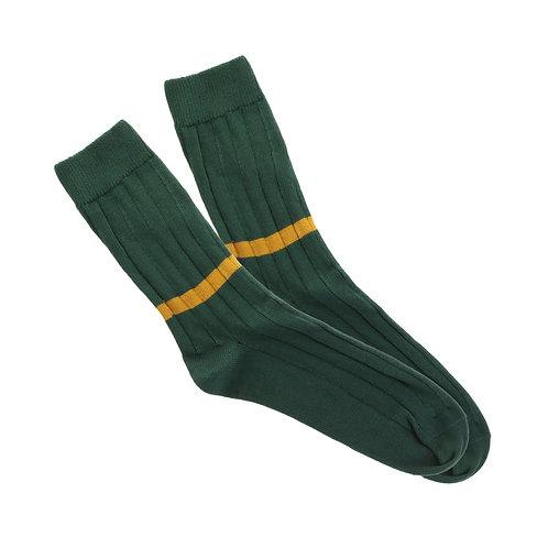 Scottish Green - Single Low Ochre Stripe