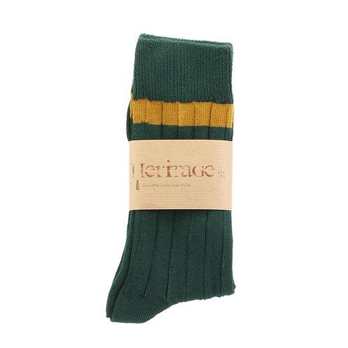 Scottish Green - Single High Ochre Stripe
