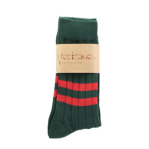 Scottish Green - Double Red Stripe