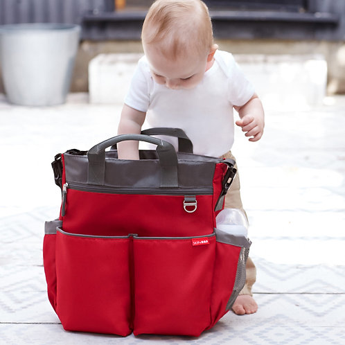BOLSO SKIP HOP DUO SIGNATURE RED