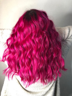 fuschia waves
