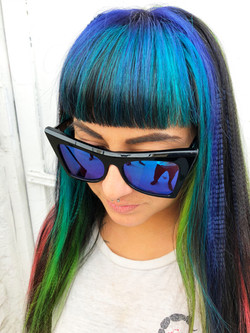 oil slick hair