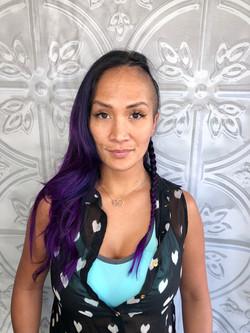 vivid violet shaved side