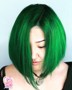 emerald green bob