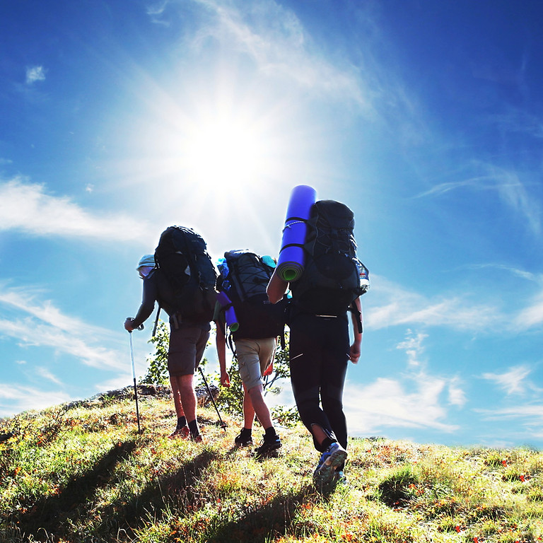 Group backpacking trip