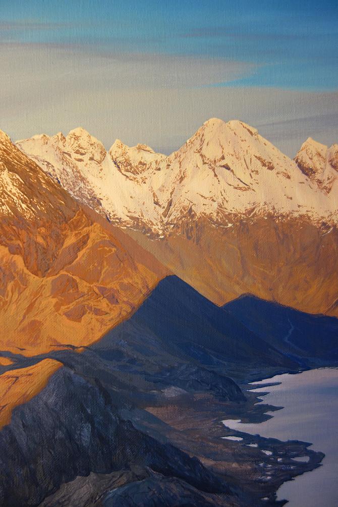 Cuillin Ridge painting progress