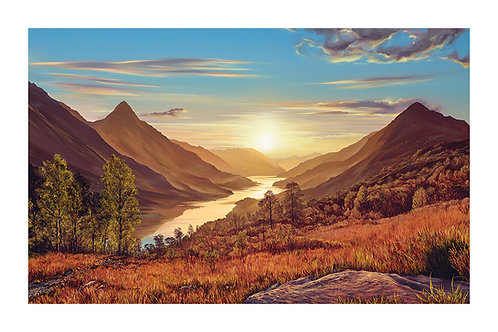 Loch Leven and Glencoe at Sunset