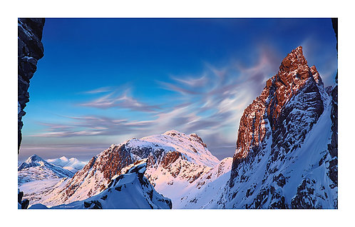 Scafell Pinnacle at Sunset