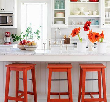 Never Underestimate The Impact Of a Pop of Color in Neutral Kitchen And Baths