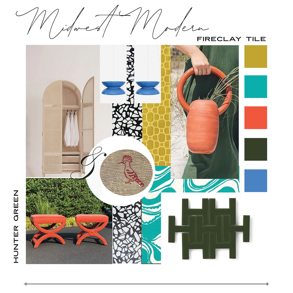 midwest modern fireclay tile ceramic tile colors hunter green