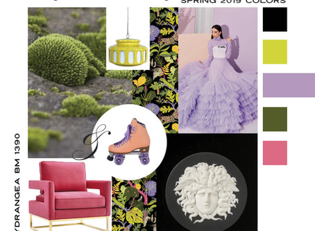 Pantone Spring 2019 Mood Boards For Modern Interior Design