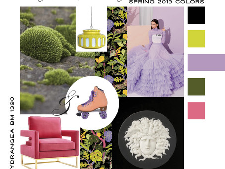 Pantone Spring 2019 Mood Boards For Modern Interior Design