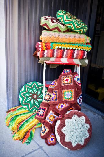 midwest modern afghan blanket vintage afghan blanket