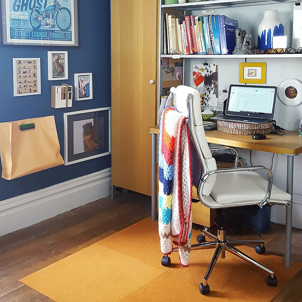 midwest modern home office design small home