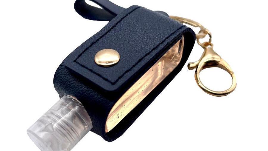 Keychain Leather Cased Refillable Sanitiser Bottle