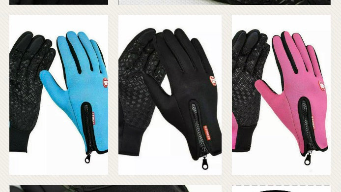Windproof, thermal and touch screen gloves