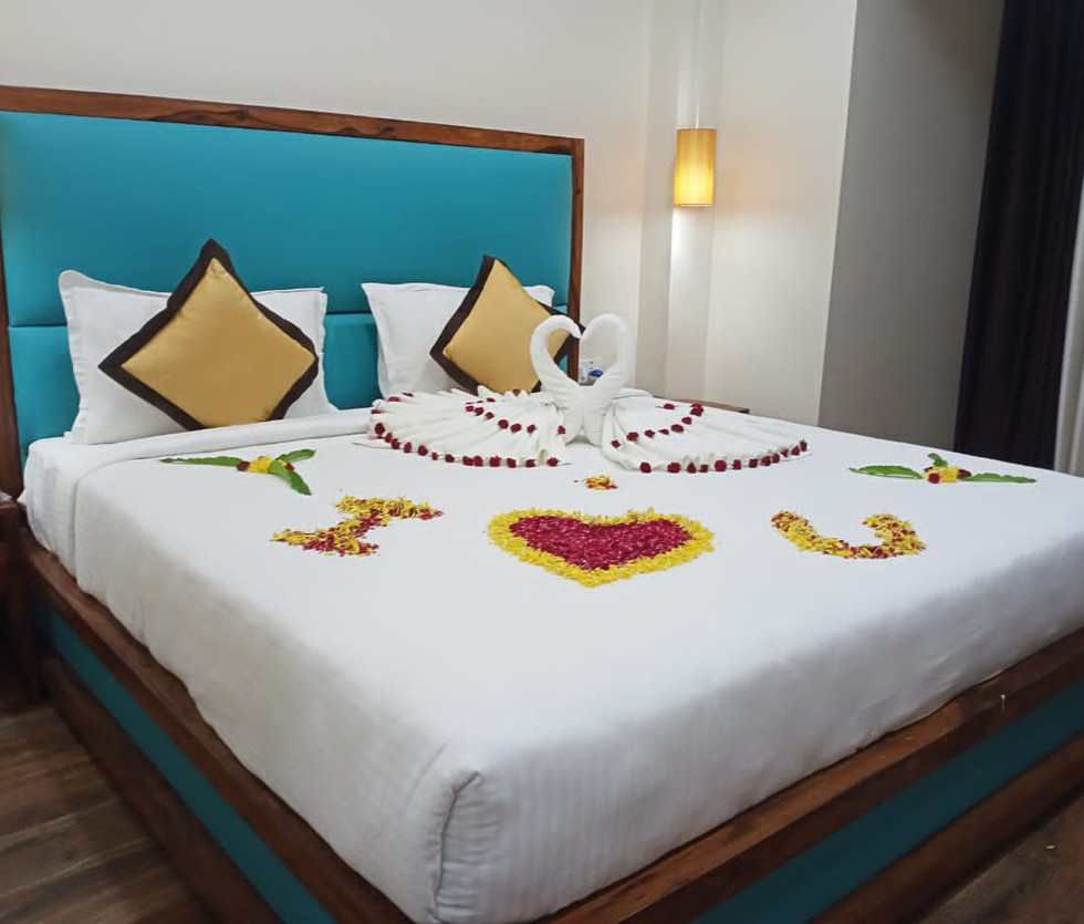 Beds with Flower Decoration
