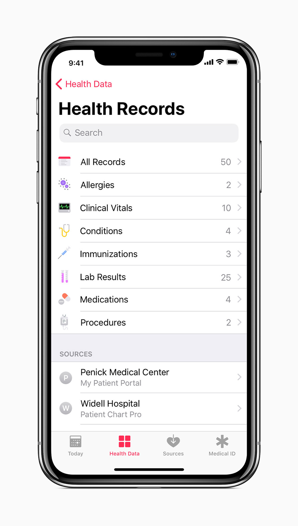 Medical Records on iPhone