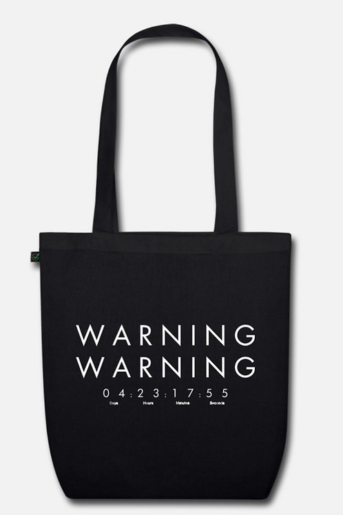 WARNING WARNING TOTE BAG