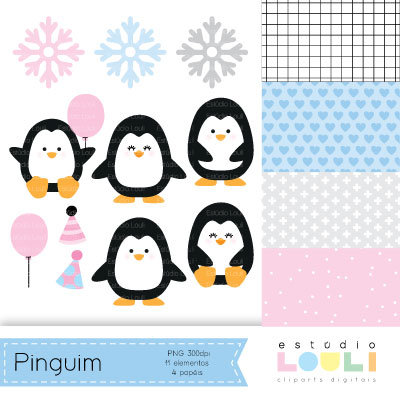 Cliparts Pinguins