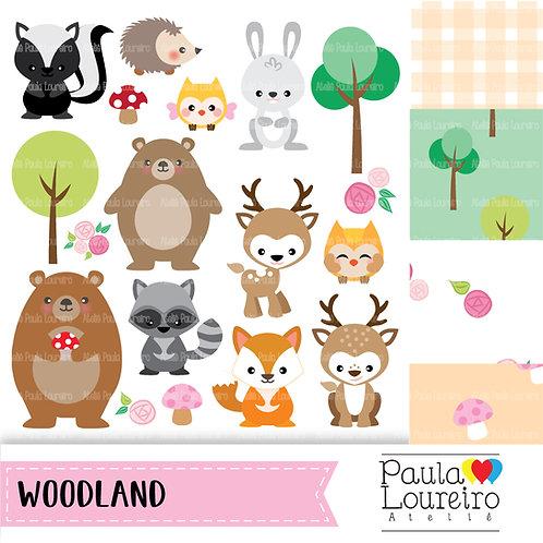 kit de clipart digital Woodland - Bosque