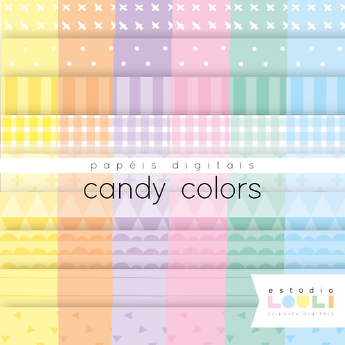 Papéis digitais candy colors