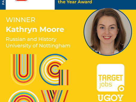 Former Student Wins Undergraduate of the Year Award!