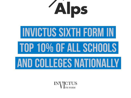 Invictus Sixth Form Top 10% in the UK!