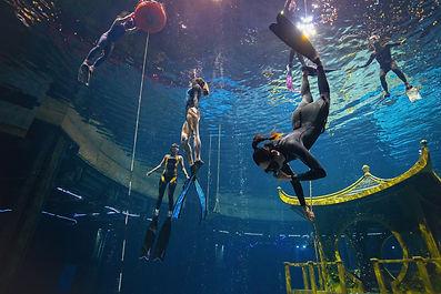 Freedivers training moment