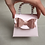 Thumbnail: Set of 12 Purse Party Favors / Light Pink Purse With Rose Gold Bow