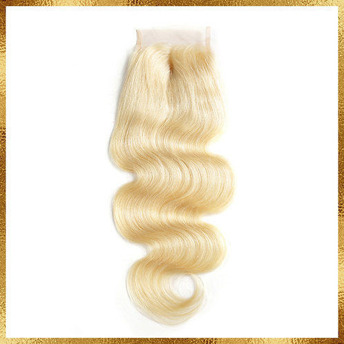 613 BLONDE BRAZILIAN BODY WAVE CLOSURE 5X5