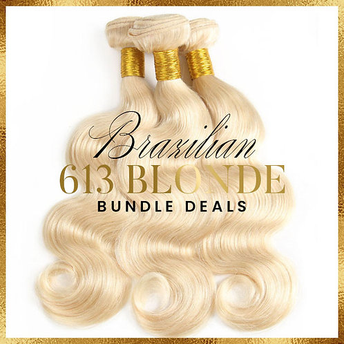 613 BRAZILIAN BODY WAVE BUNDLE DEALS