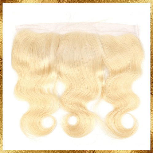 613 BLONDE BRAZILIAN BODY WAVE TRANSPARENT LACE FRONTAL 13x4