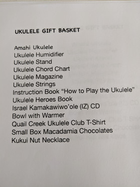 list of donated items