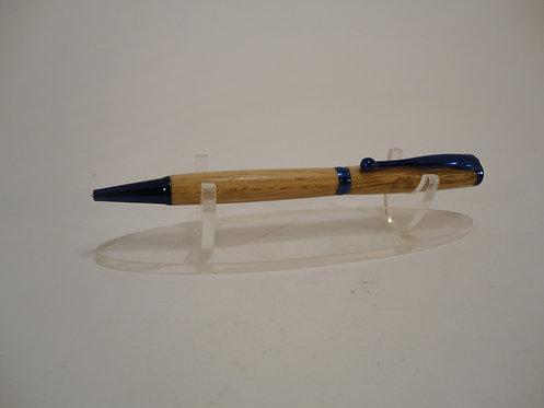 Fancy Slimline Pen With Blue Trim