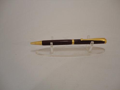 Fancy Slimline Pen with Satin Gold Trim