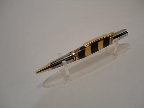Segmented Lucinda Pen with Gold Trim