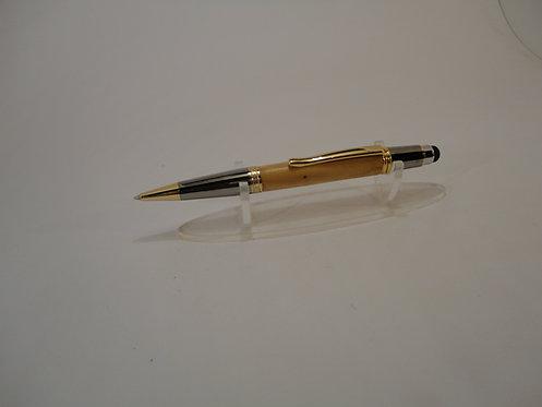 Sierra Stylus Pen with Gold/Triv.Chrome Trim