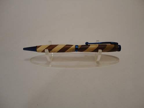 Segmented Slimline Pen with Blue Trim