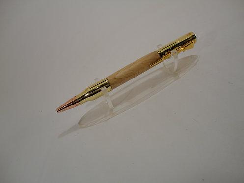 Bullet Bolt Action Pen with Gold Trim
