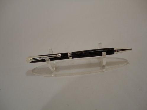 Slimline Pen Gold Trim with Black Stripe