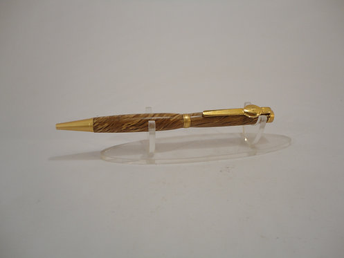 Fancy Slimline Pen with Gold Trim & Rugby Clip