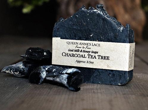Charcoal Tea Tree Goat Milk & Honey Soap