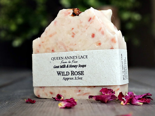 Wild Rose Goat Milk & Honey Soap
