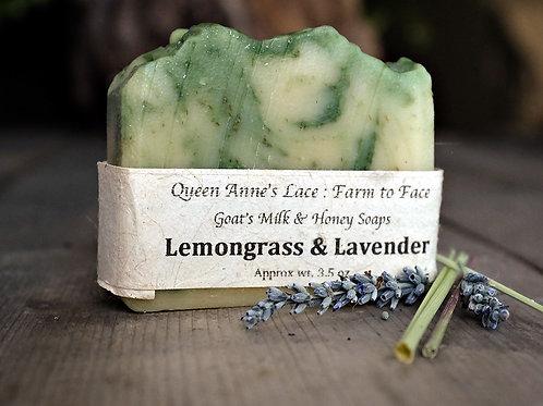 Lemongrass Lavender Goat Milk & Honey Soap