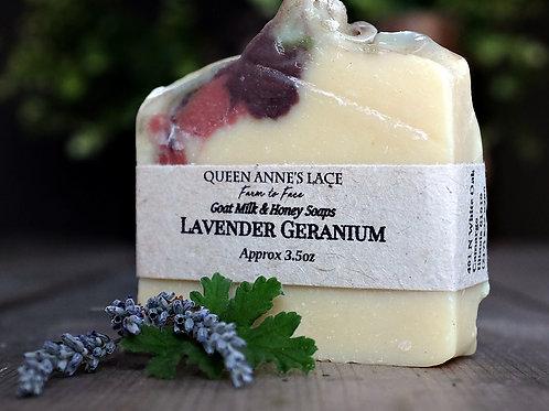 Lavender Geranium Goat Milk & Honey Soap